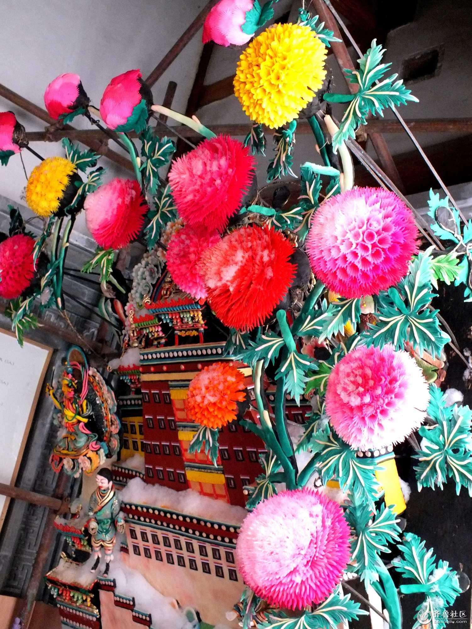青海塔尔寺艺术三绝之一——酥油花