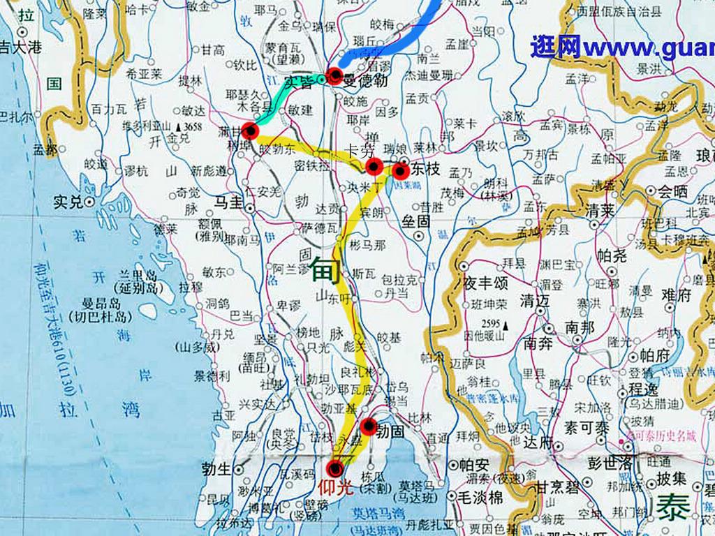 缅甸大金塔地图