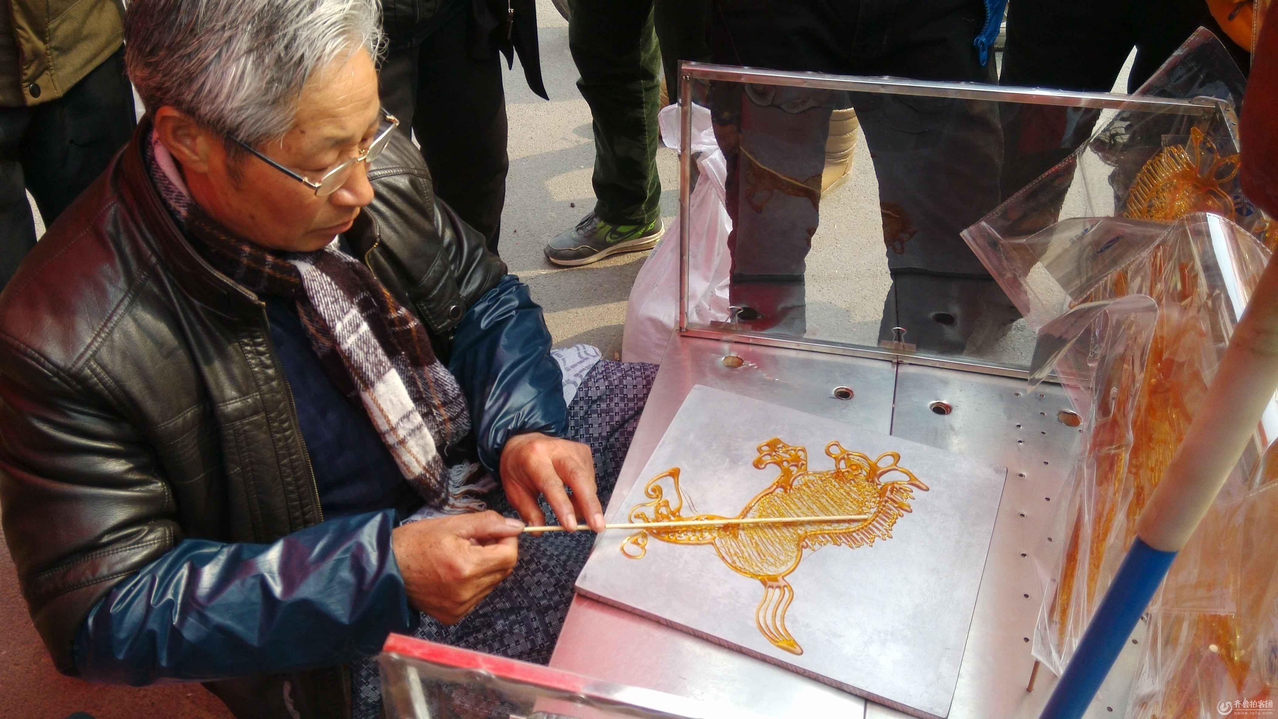 糖球会拍中国糖画制作过程—骏马诞生跟拍