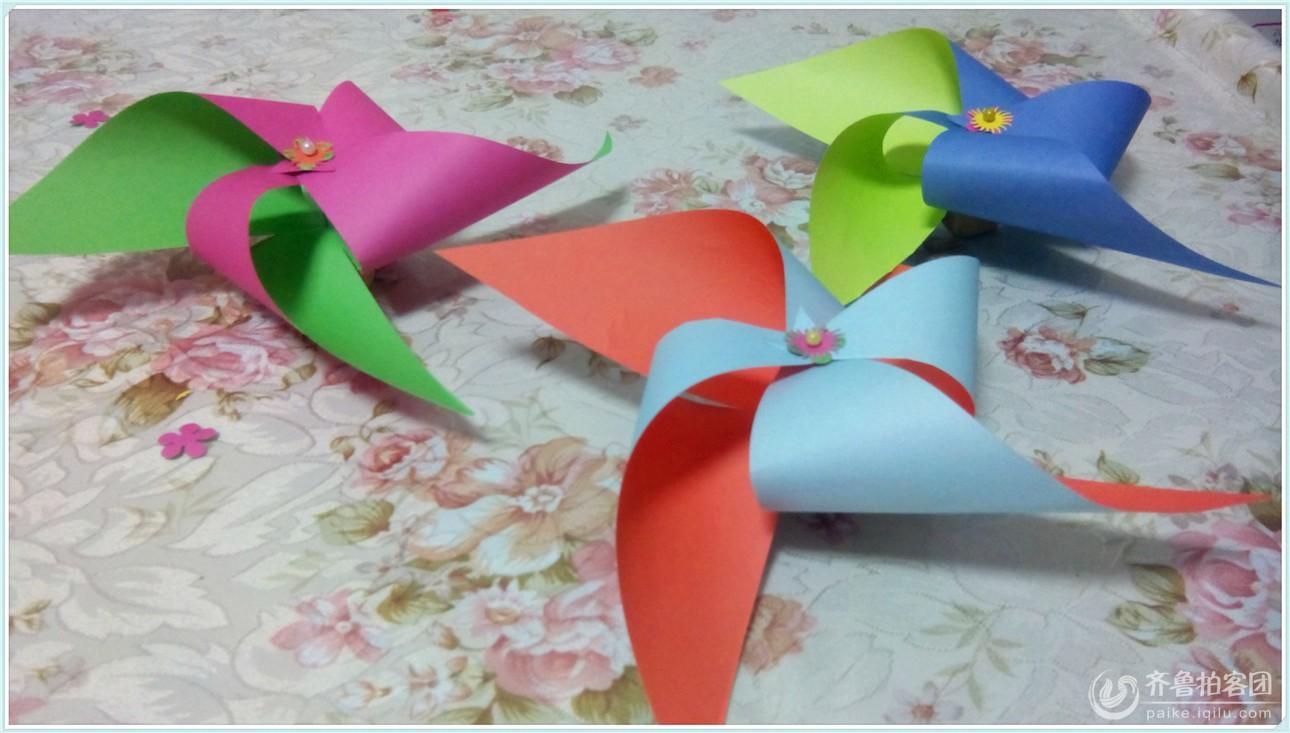 折纸——童年回忆之简单小风车
