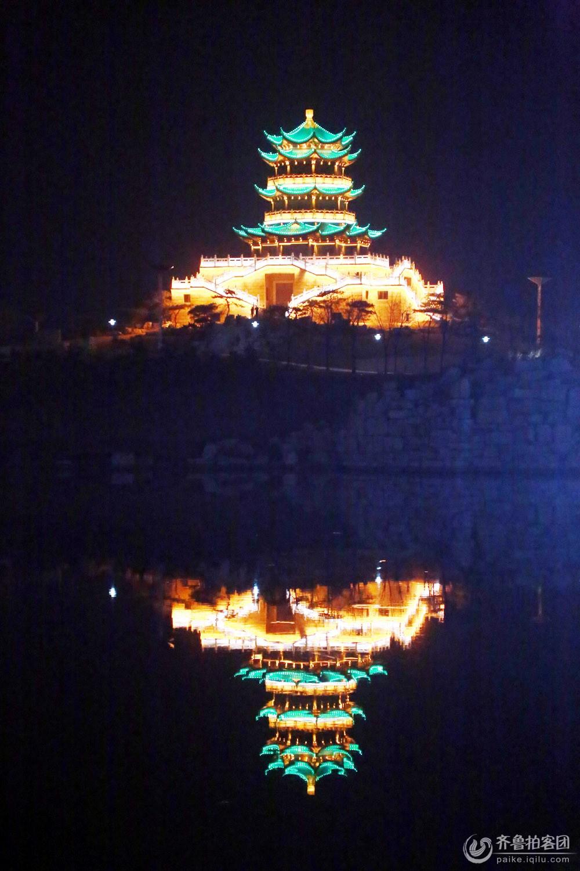 夜拍清风湖之宝塔