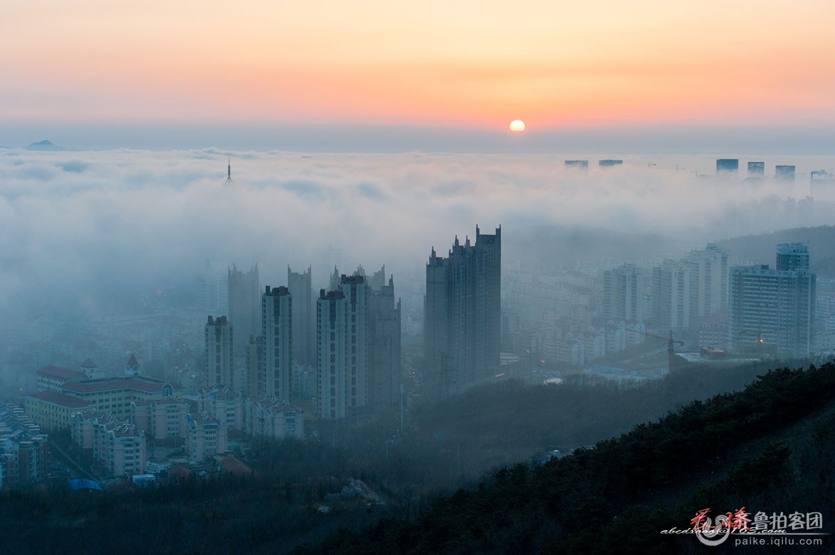 浮山平流雾 - 青岛拍客 - 齐鲁社区 - 山东最大的城市