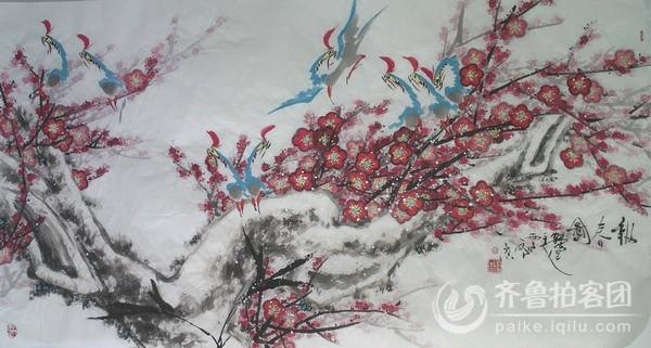 中国画鹦鹉画法创意人赵云州先生画作初览(春意盎然篇)