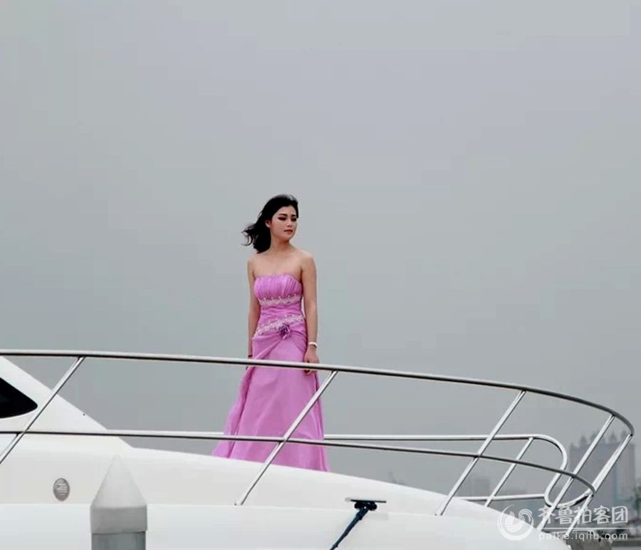 游艇--美女