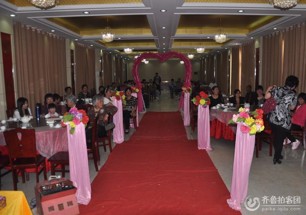 完美的农村婚礼现场