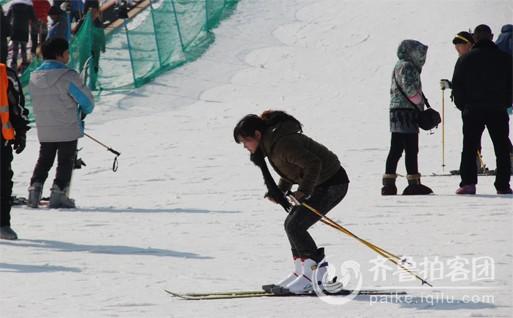 五莲山滑雪场拍客