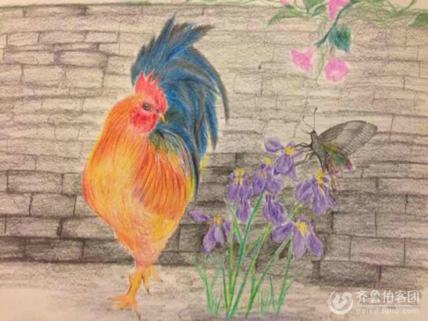 出自一个只有初中文化的女人之手,且她从来没有经过专业绘画艺术训练.