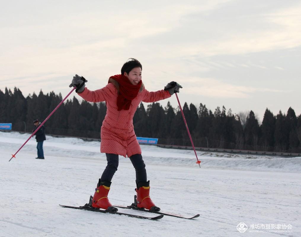 指南针影行天下青云山滑雪场采风花絮---滑雪快乐!