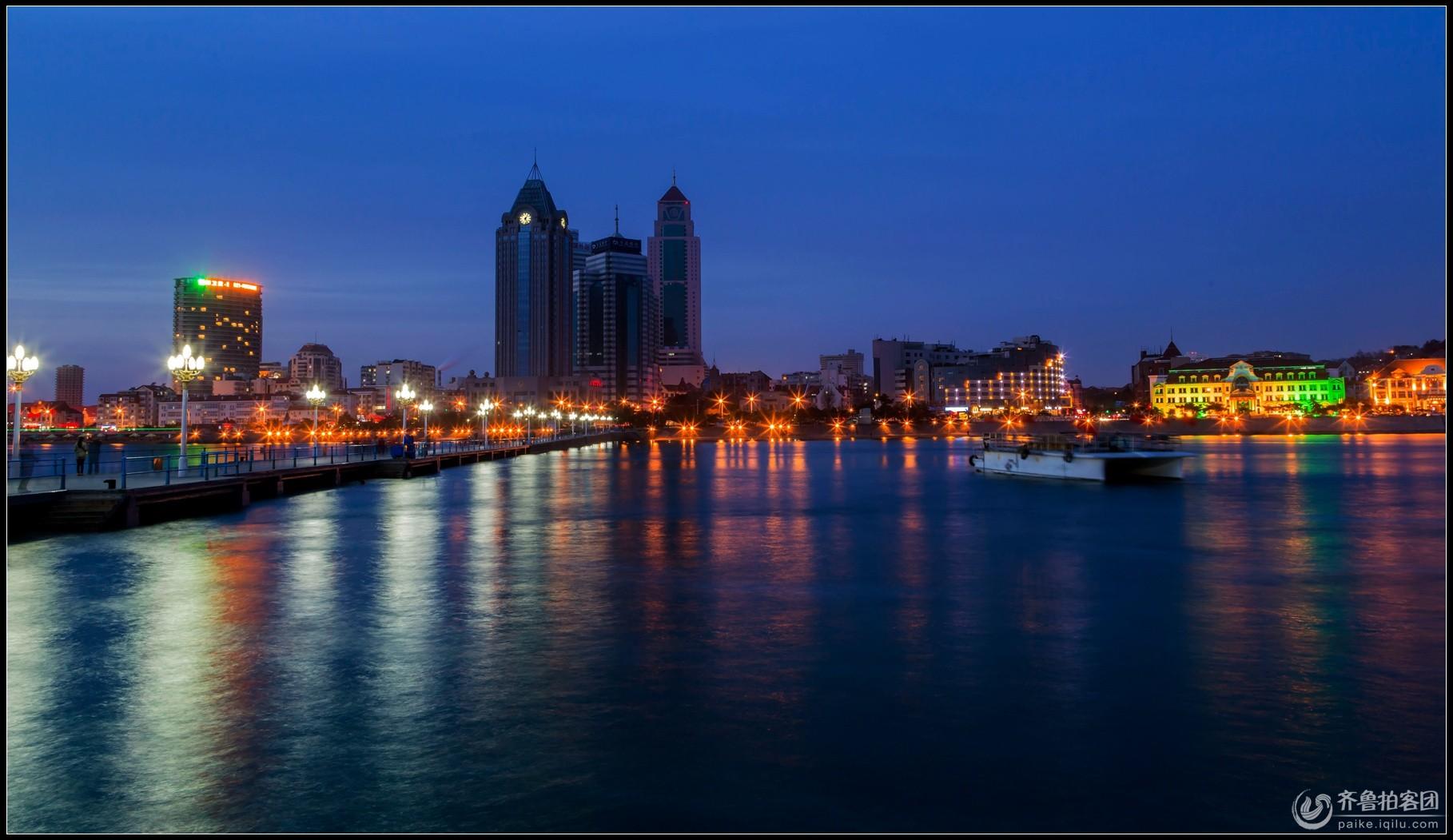 初四,栈桥夜景 - 青岛拍客 - 齐鲁社区 - 山东最大的