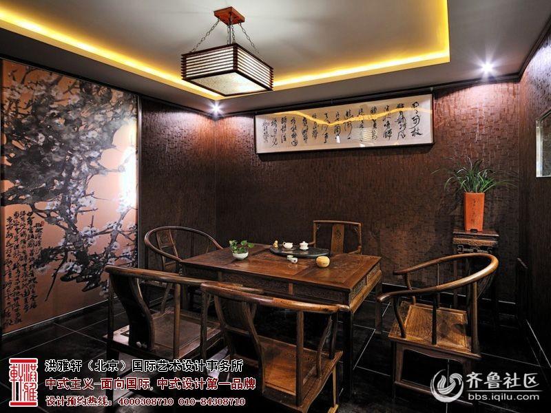 中式茶楼装修效果图   现代新中式茶馆图片-玄关装修效果图