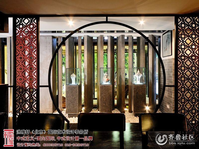 装修效果图   中式茶楼装修效果图   现代新中式茶馆图片-大