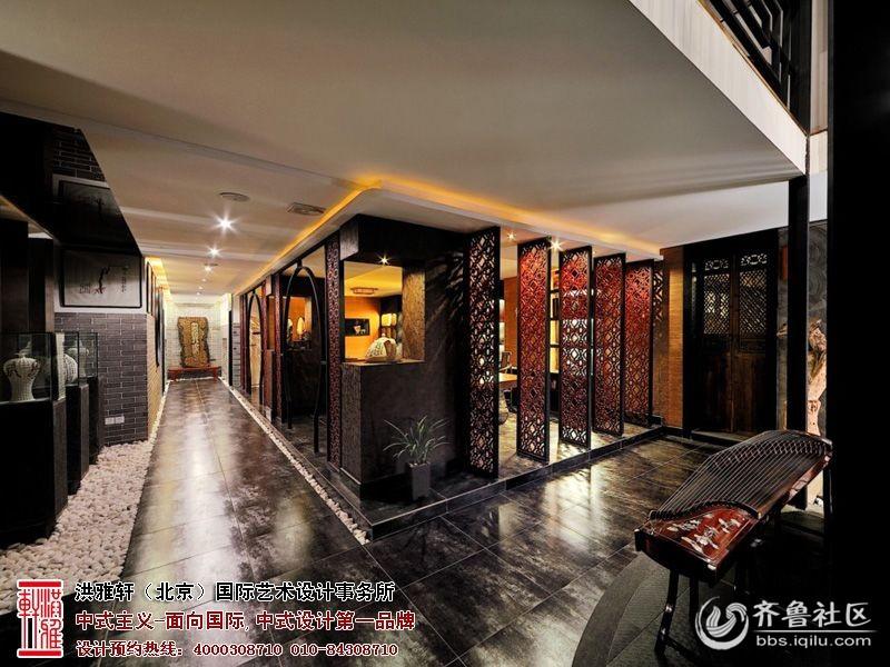 中式茶楼装修效果图   现代新中式茶馆图片-品茶区装修效果