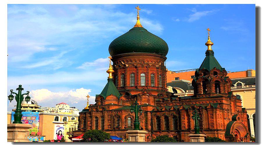 哈尔滨圣索菲亚大教堂摄影图__国内旅游_旅游