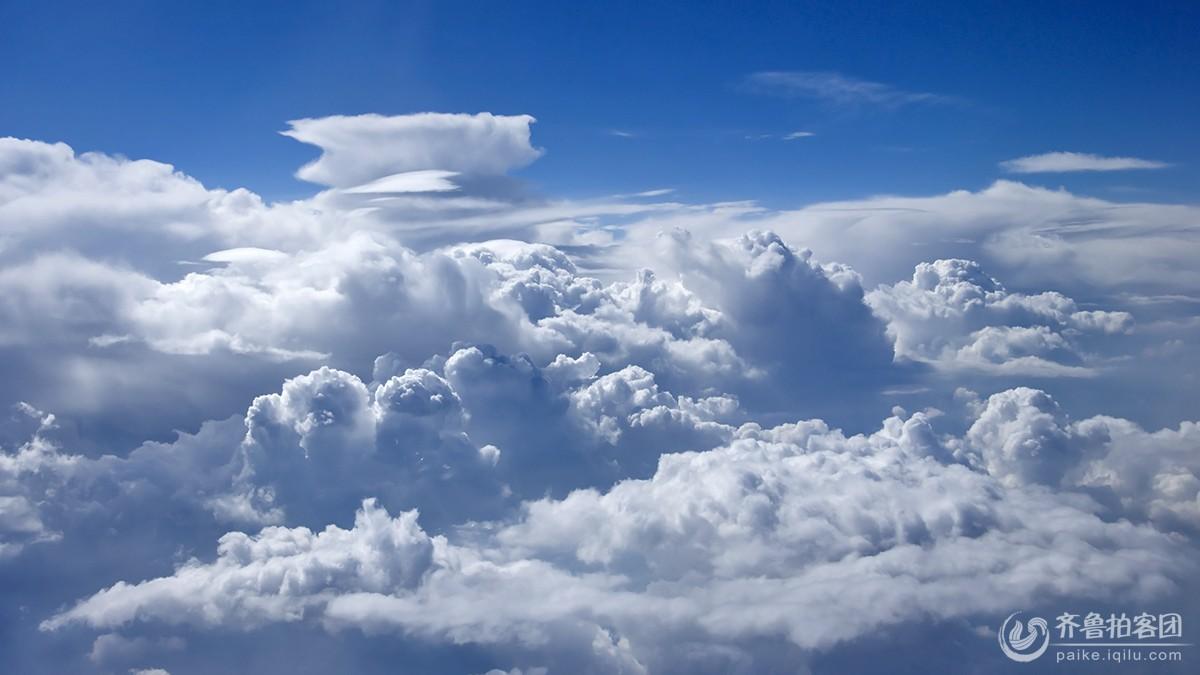 航拍全景天空高清素材
