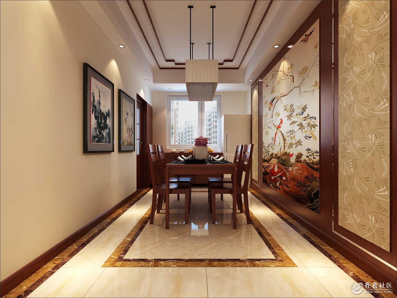 小区138平米中式风格装修效果图