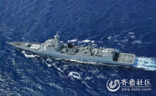 美军舰号称闯南海 被中国两艘军舰夹着转圈