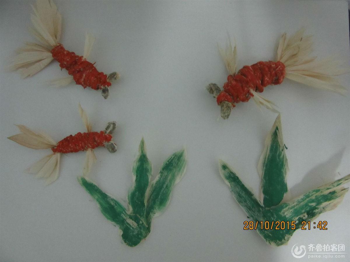 玉米皮,玉米粒手工作品