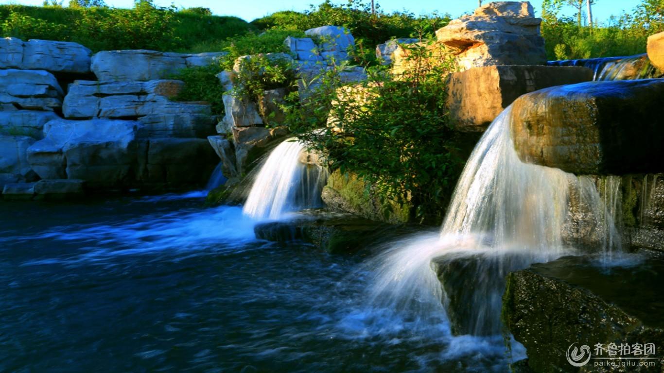 壁紙 風景 旅游 瀑布 山水 桌面 1366_768