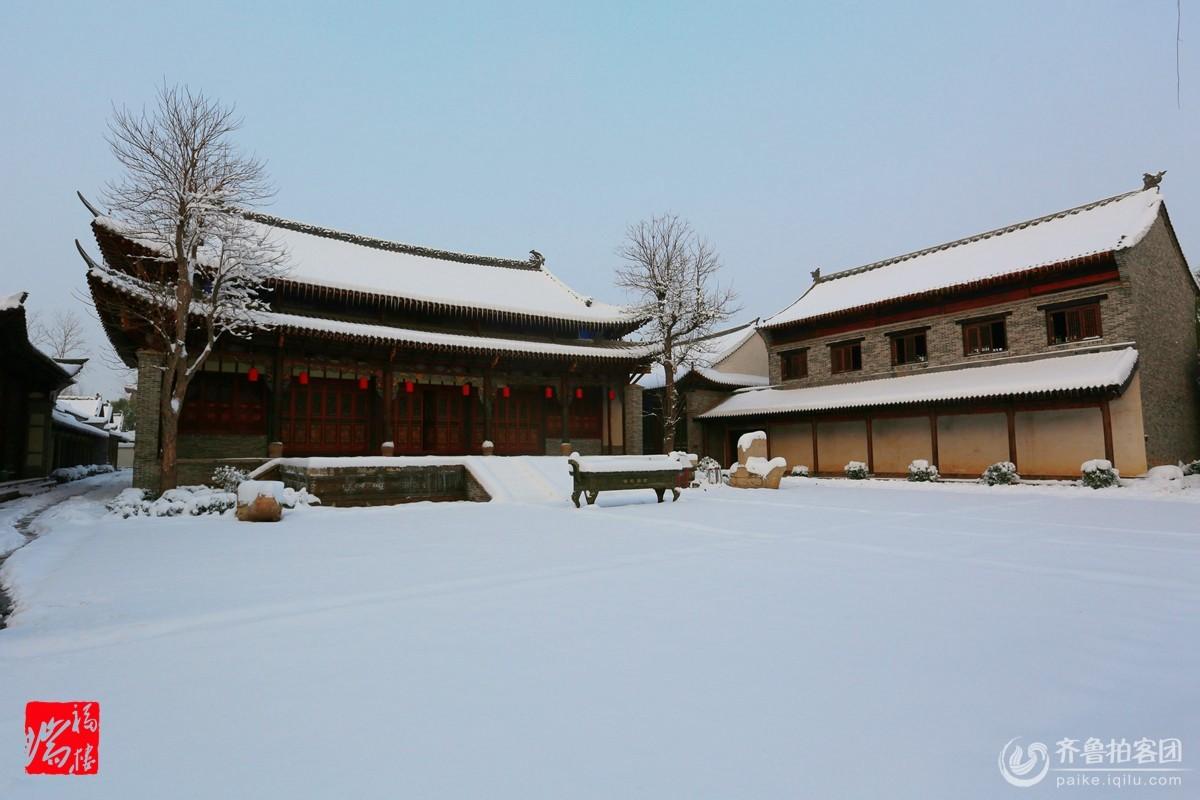 大美郓城之雪映好汉城