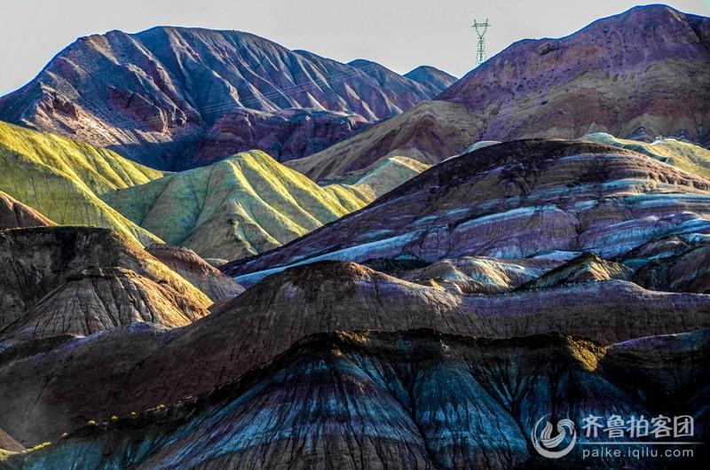 色彩斑斓的张掖丹霞地貌景观