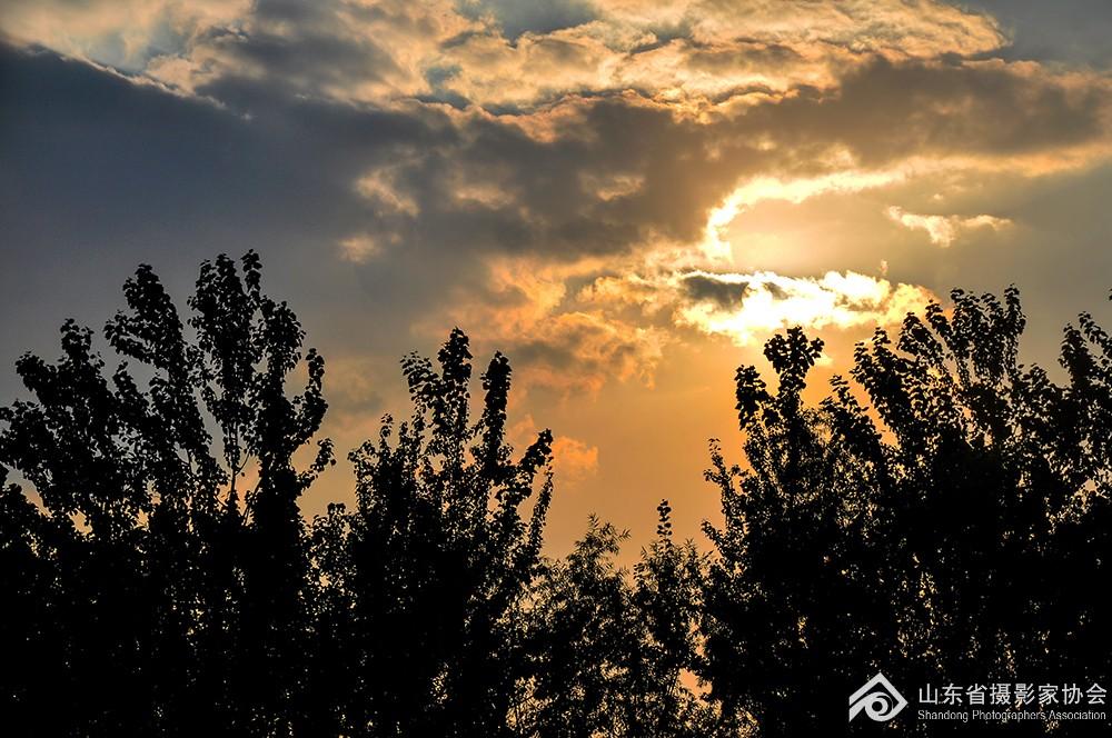 《霞光灿烂》王卉15665873801摄于赤霞广场.jpg