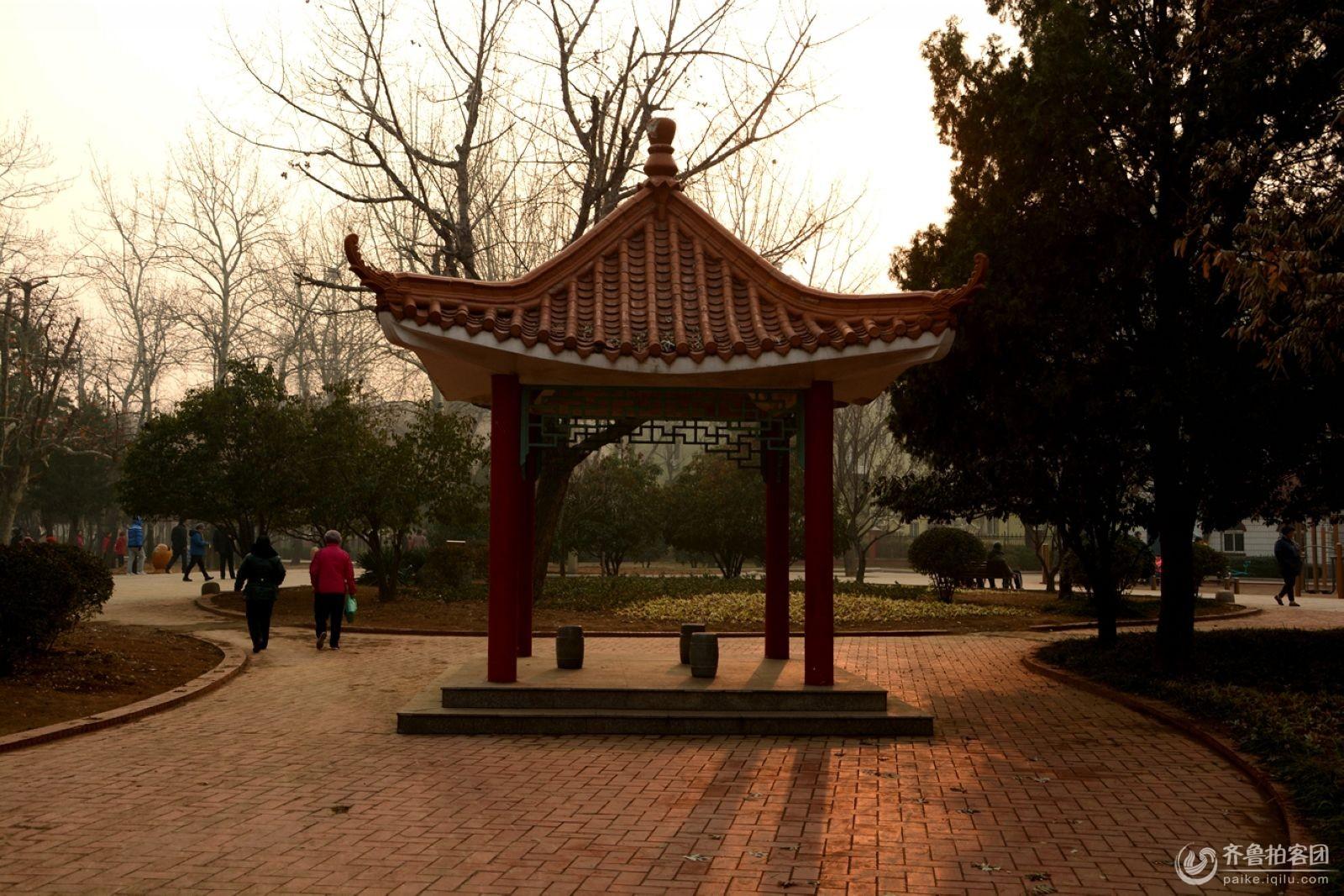 冬日沧口公园
