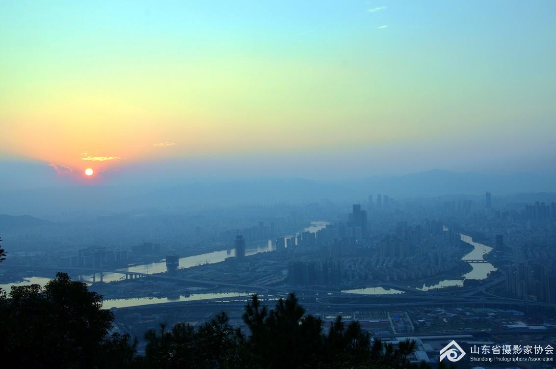 福州鼓山夕阳