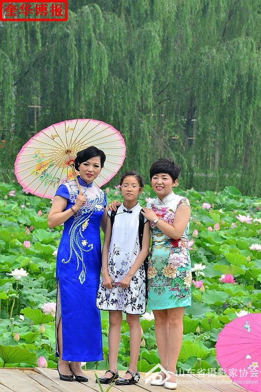 2016年7月2日,在第十届中国江北水城(聊城)荷花文化艺术节开幕期间,来自聊城市4县市区的200多名旗袍秀在 ...