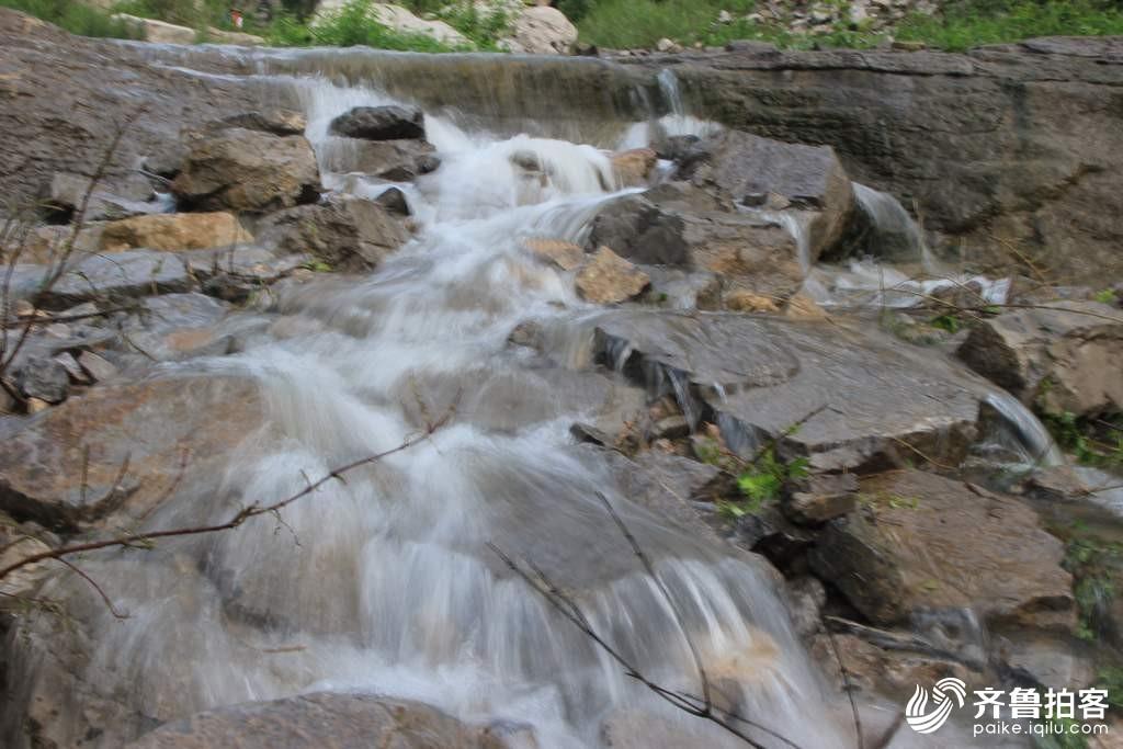 淄博博山黄红峪随拍瀑布