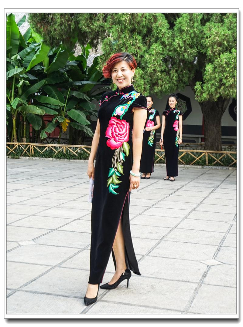 大明湖旗袍模特秀
