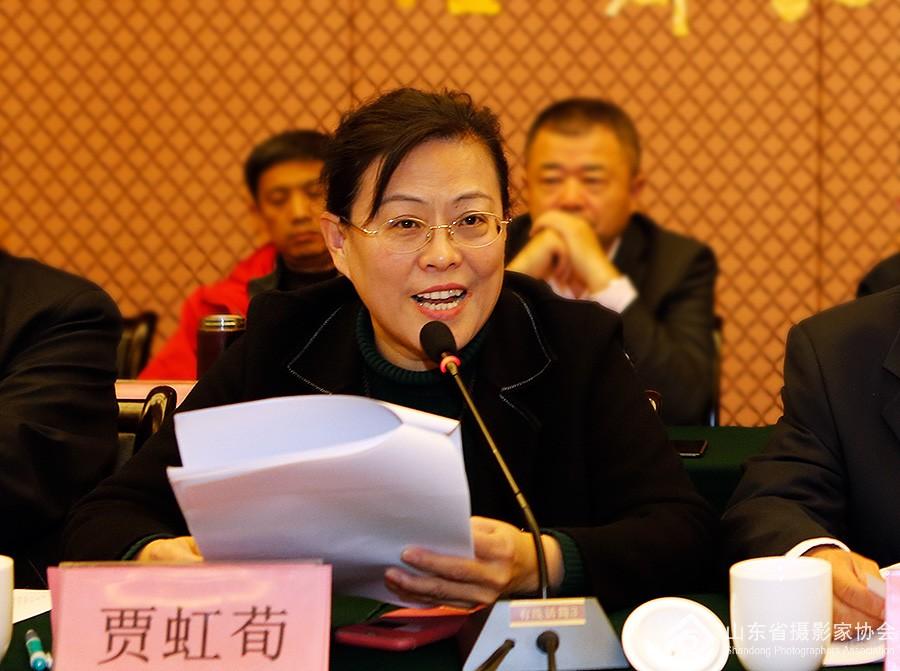 常务副主席兼秘书长贾虹荀主持大会