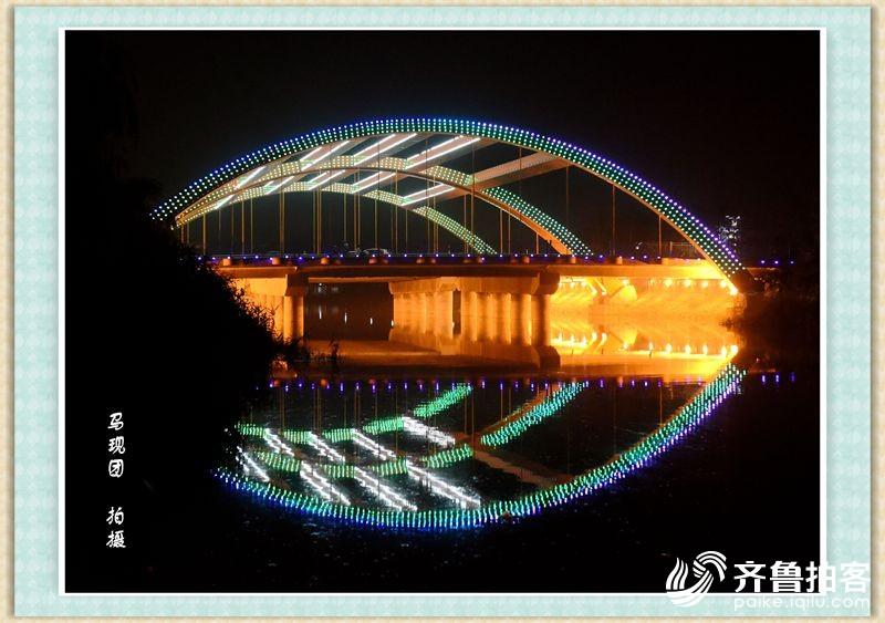 夜幕下的大美郓城之一    马现团  拍摄