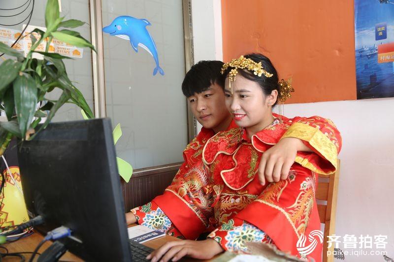 山东郓城:不坐宝马不坐轿 农村淘宝农机婚礼真热闹