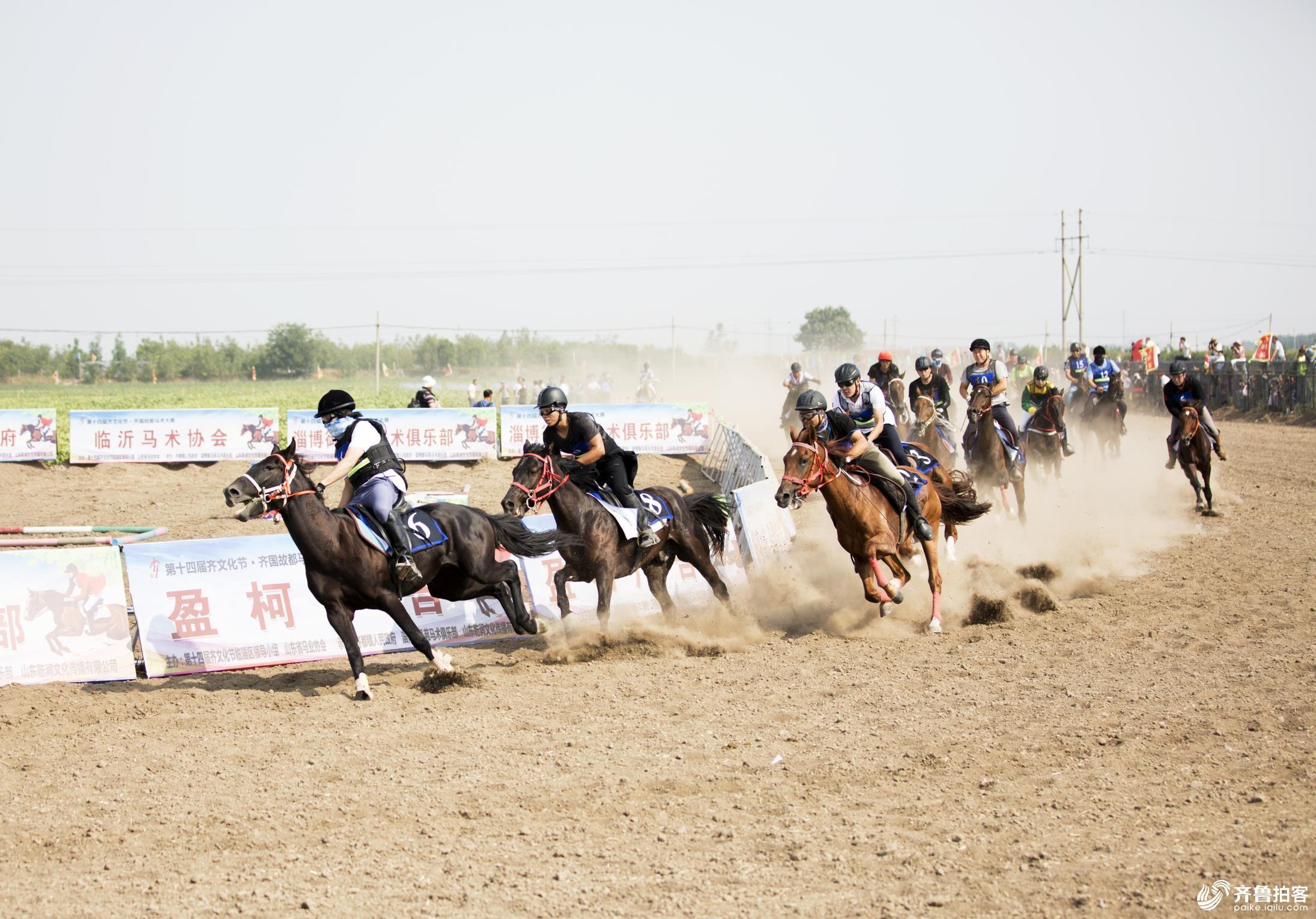 第十四届齐文化节、齐国古都马术大赛。