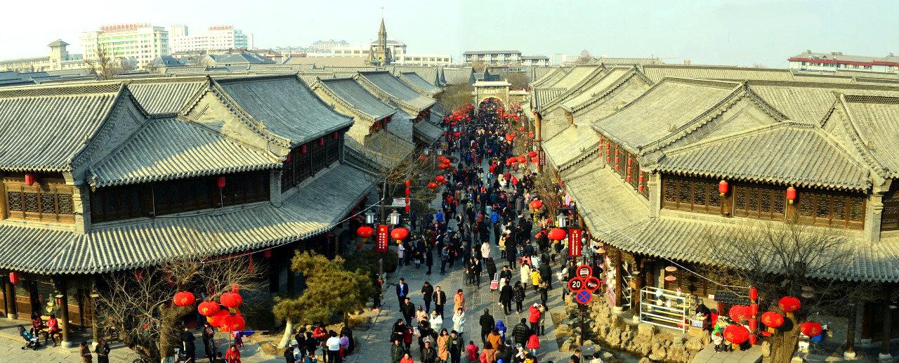 青州古城游客多