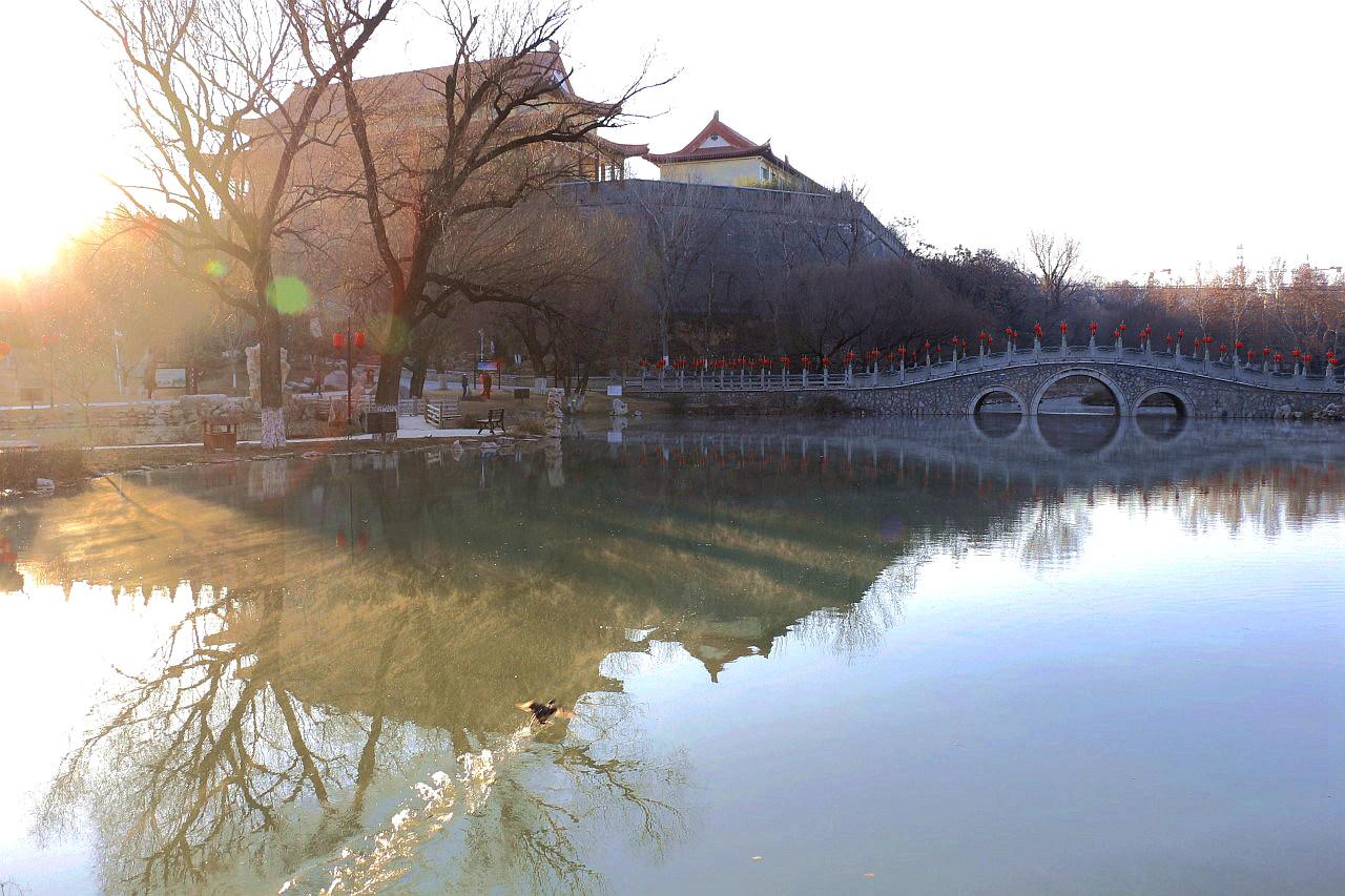 洋溪湖冬季晨景