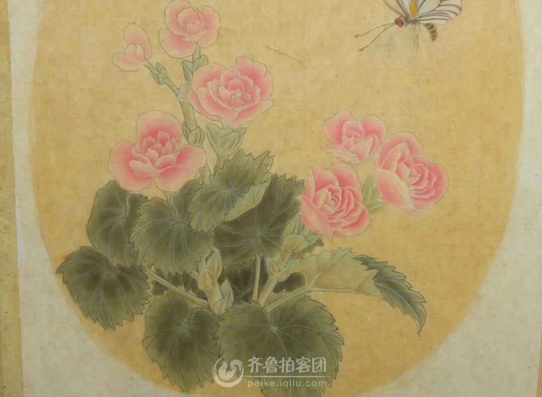 蝴蝶海棠图--我的工笔画