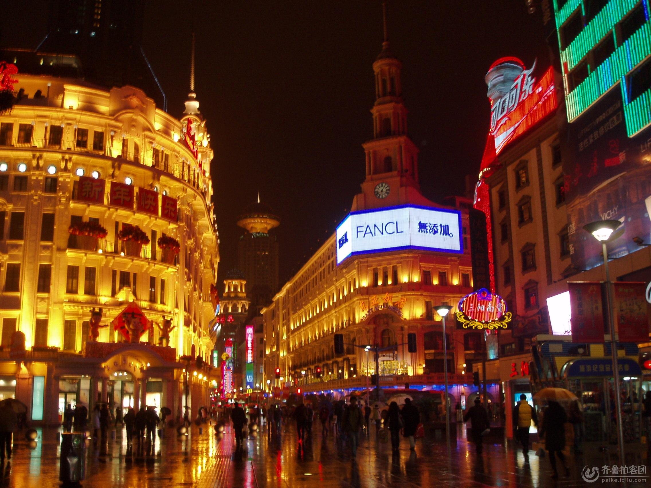 城市街道夜景图片