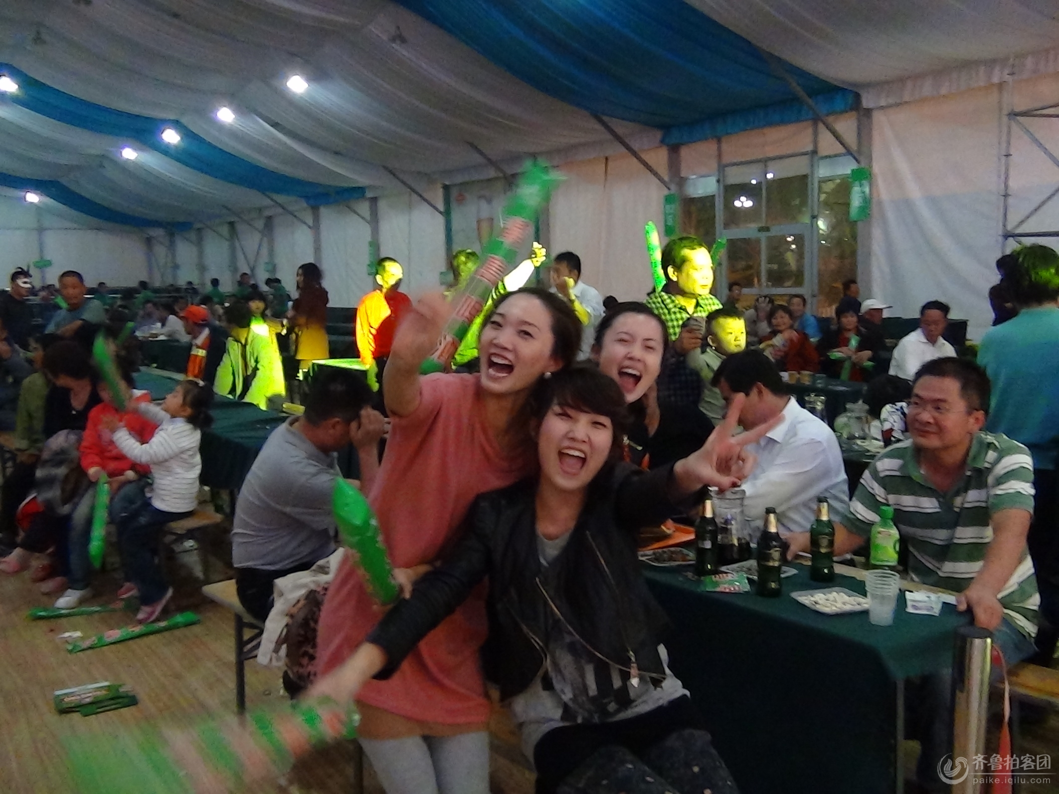 临沂首届青岛啤酒节现场