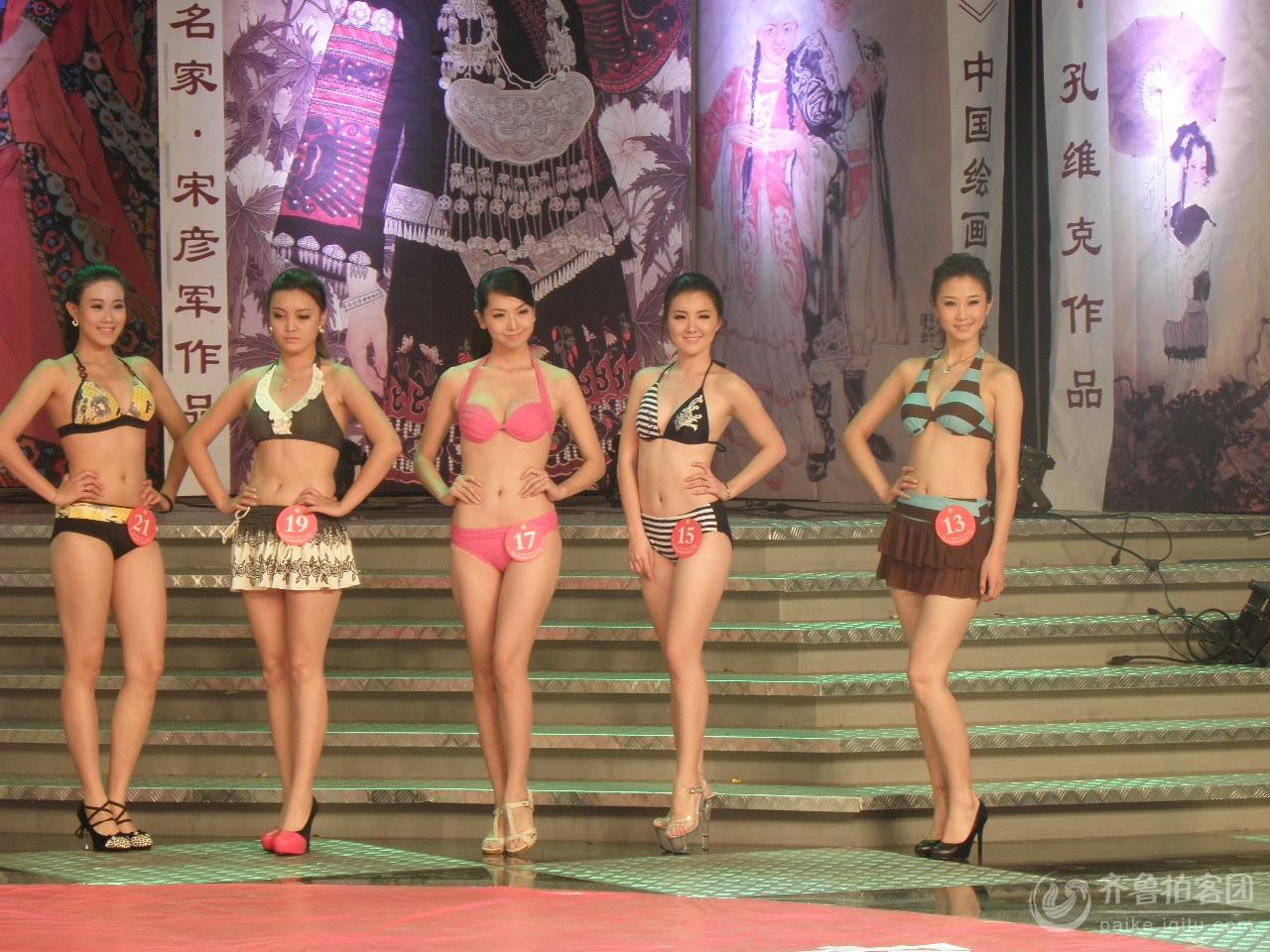 中国绘画模特大赛 美女如云
