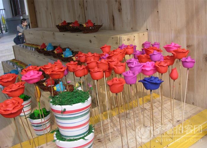 【手工艺】橡皮泥捏玫瑰花