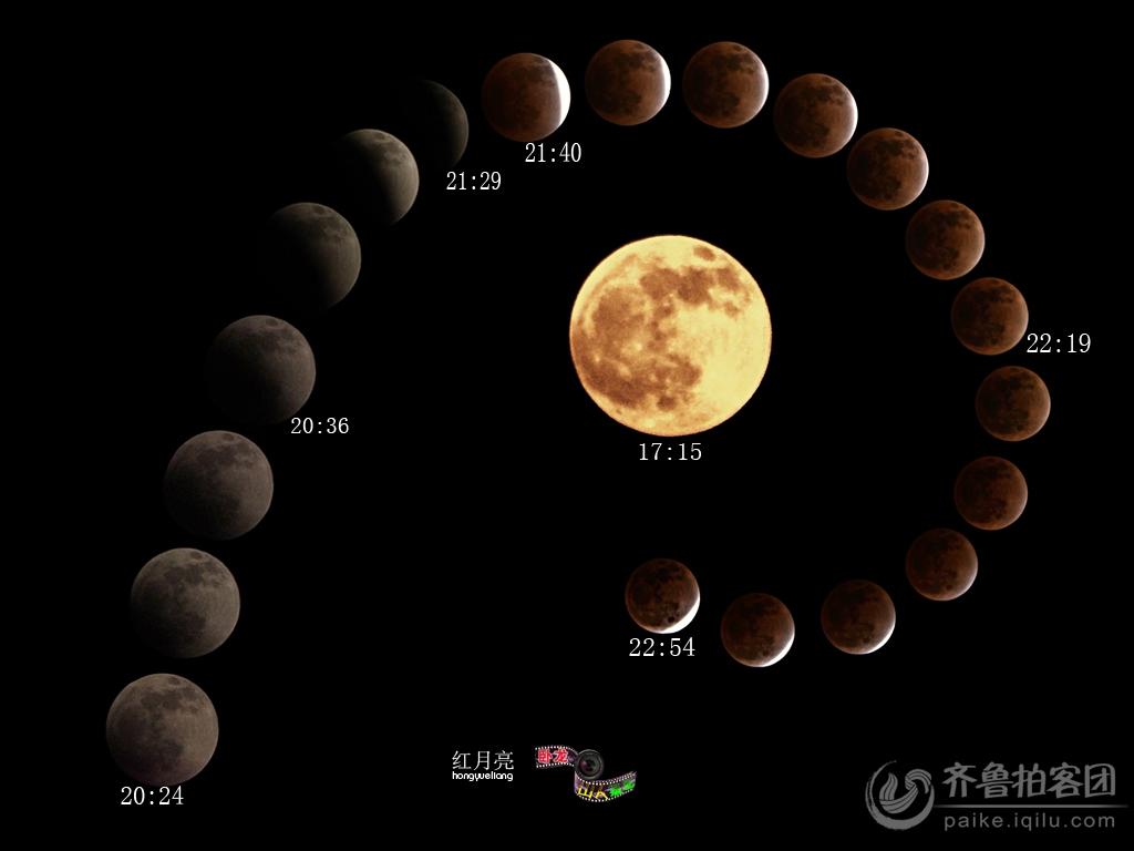 月亮的变化过程