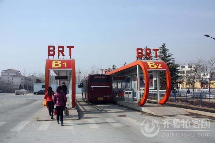 枣庄的BRT公交图片