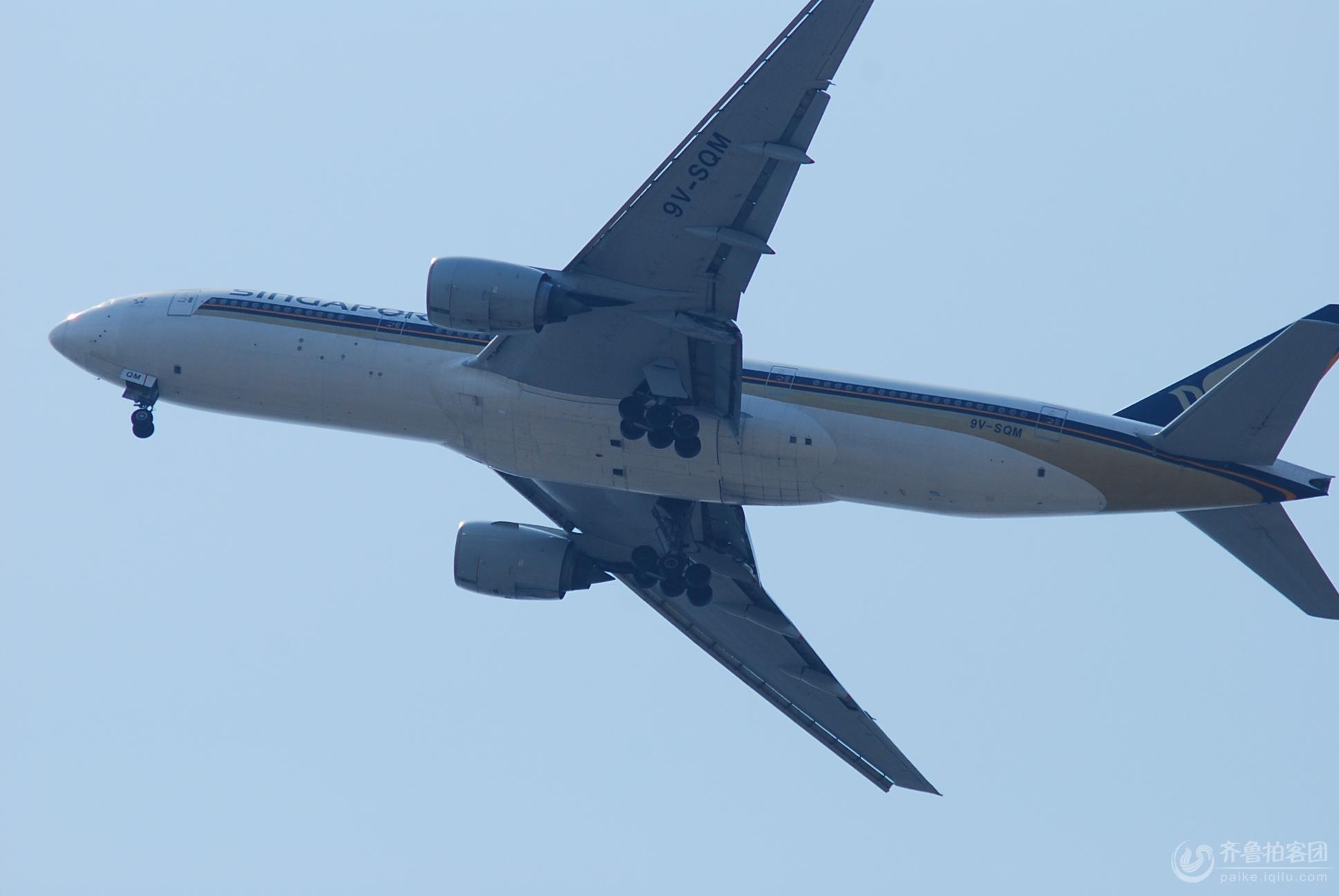 浦东机场附近拍降落的飞机