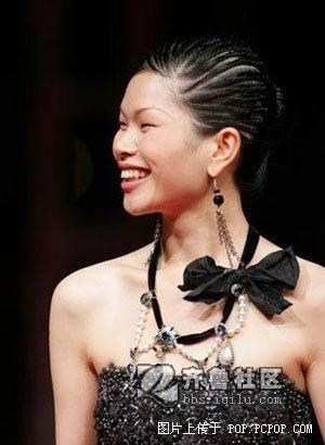 中国名模吕燕的发型
