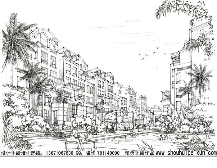 手绘培训|建筑,城市规划,园林景观,室内手绘培训