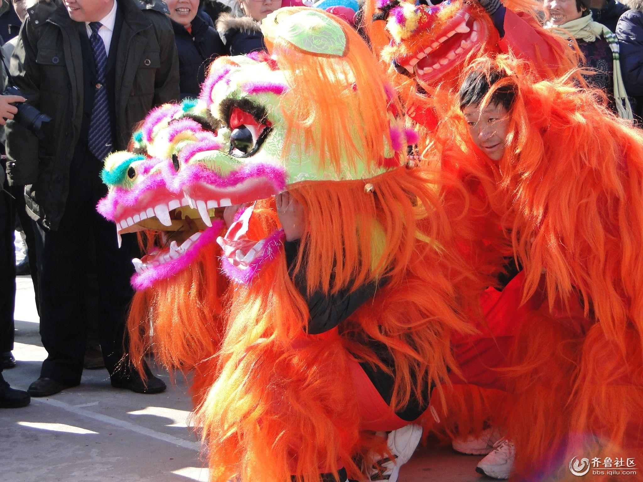 博山镇的狮子舞