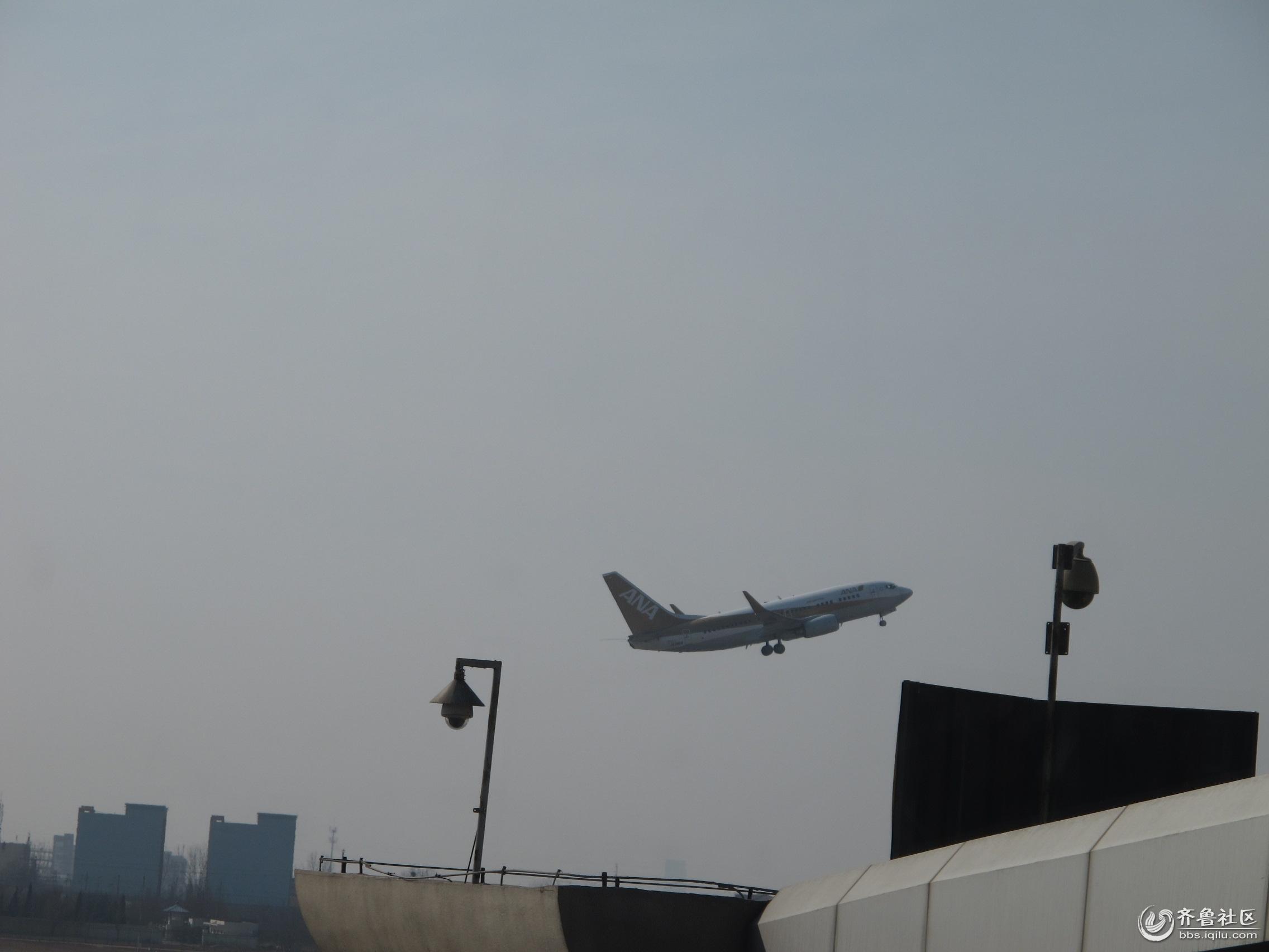 青岛飞机场里的一幕
