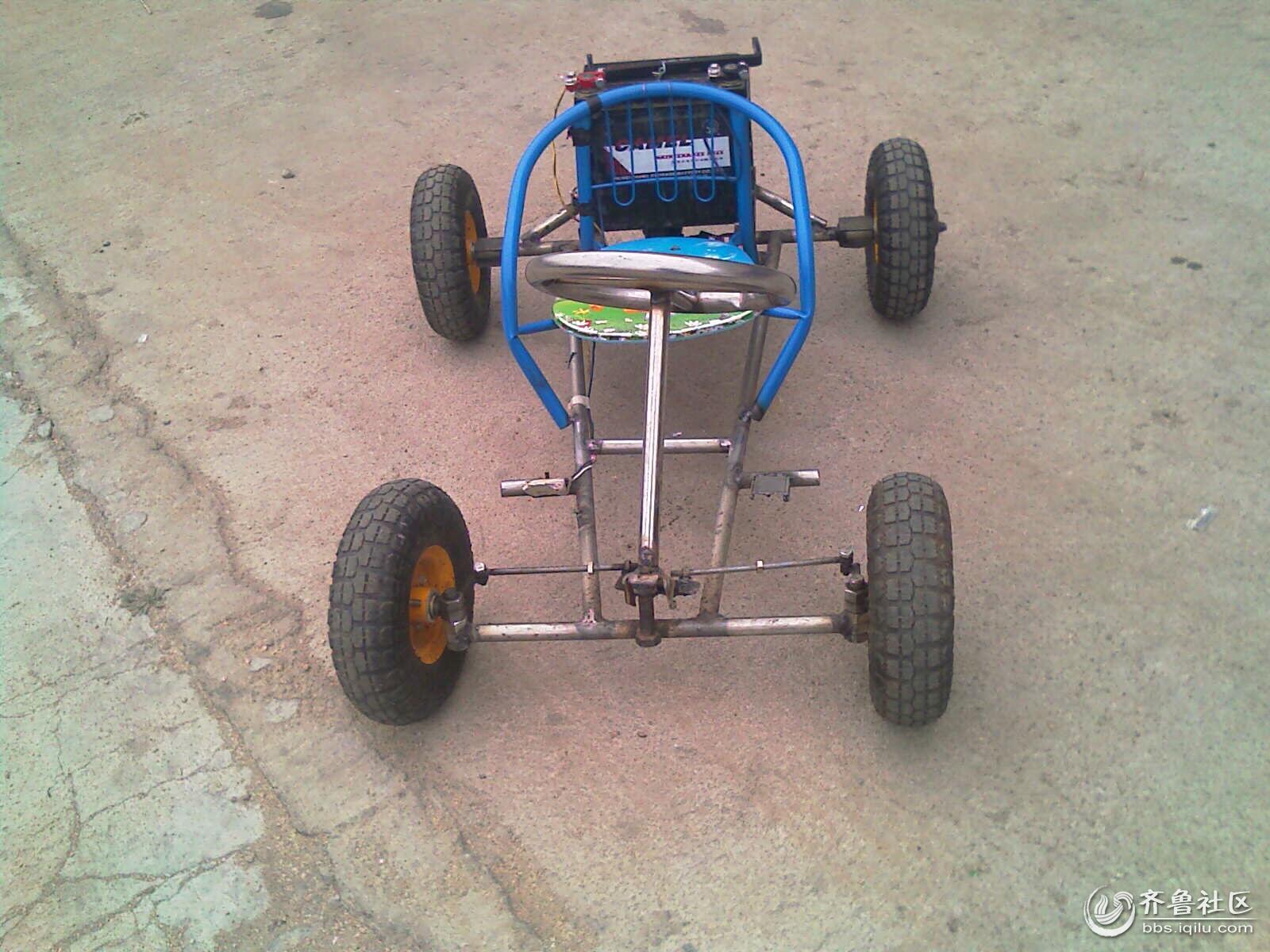 牛人自制小电动车(手机拍摄)
