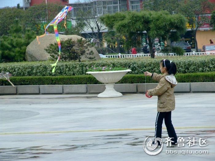 春天来了到广场放风筝去吧